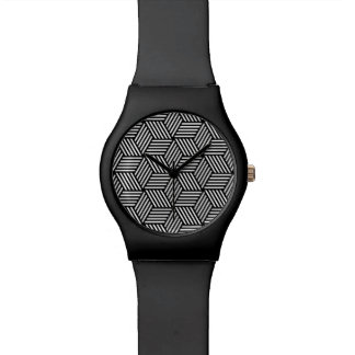 Geometric pattern art design watch
