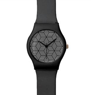Geometric pattern art design watches