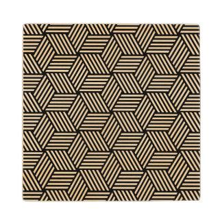 Geometric pattern art design wood coaster