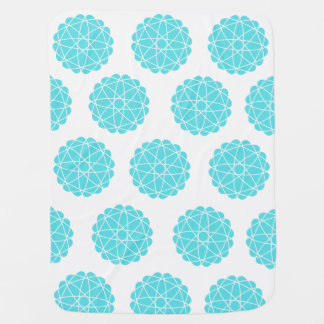 Geometric pattern baby blanket