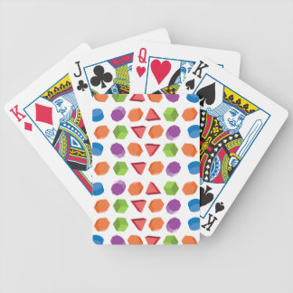 Geometric pattern bicycle playing cards