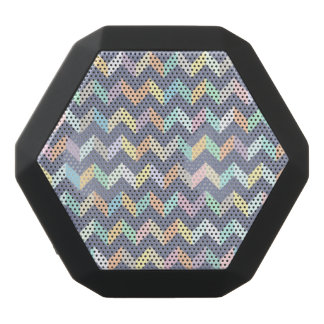 Geometric Pattern Black Bluetooth Speaker