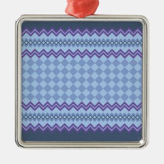Geometric pattern christmas ornament