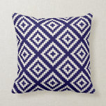 Geometric Pattern Cobalt Blue Cushion