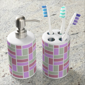 Geometric Pattern custom bathroom set