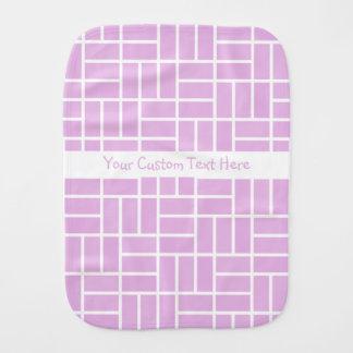 Geometric Pattern custom burp cloth