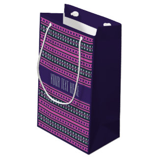 Geometric Pattern custom gift bags