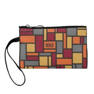 Geometric Pattern custom monogram accessory bags