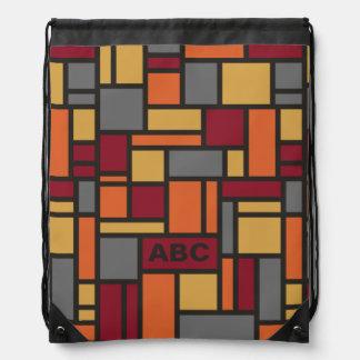 Geometric Pattern custom monogram backpack