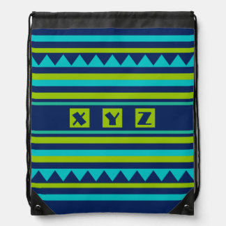 Geometric Pattern custom monogram bag