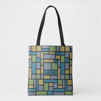 Geometric Pattern custom monogram bags