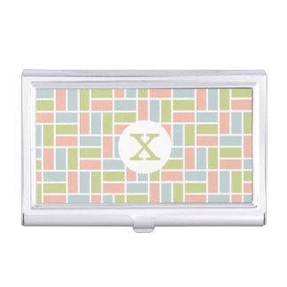 Geometric Pattern custom monogram card holder