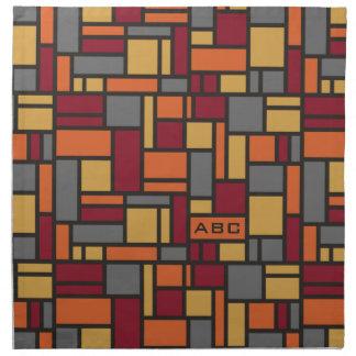 Geometric Pattern custom monogram cloth napkins