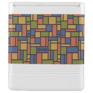 Geometric Pattern custom monogram coolers Igloo Cool Box