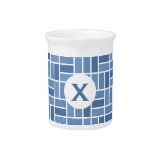 Geometric Pattern custom monogram pitcher