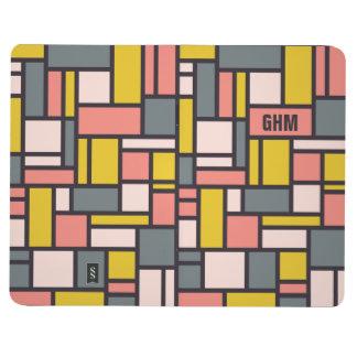 Geometric Pattern custom monogram pocket journal