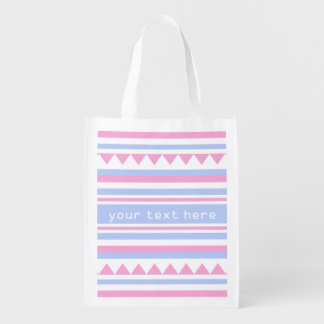 Geometric Pattern custom monogram reusable bag