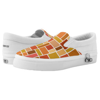Geometric Pattern custom monogram shoes
