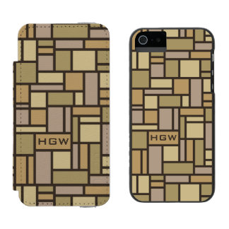 Geometric Pattern custom monogram wallet cases Incipio Watson™ iPhone 5 Wallet Case