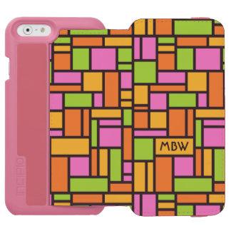 Geometric Pattern custom monogram wallet cases Incipio Watson™ iPhone 6 Wallet Case