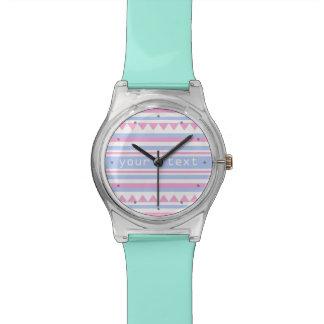 Geometric pattern custom monogram watch