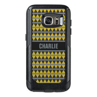 Geometric pattern custom name phone cases