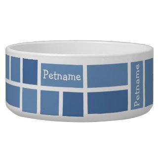 Geometric Pattern custom pet bowls