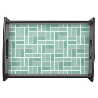 Geometric Pattern custom serving tray