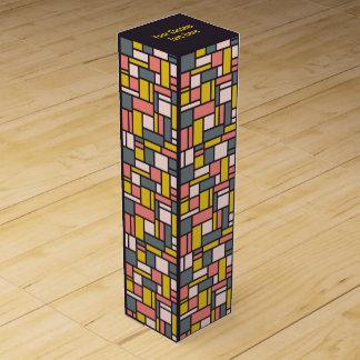 Geometric Pattern custom wine gift box
