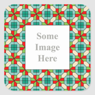 Geometric pattern Customisable Frame Sticker