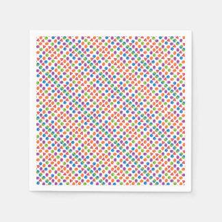 Geometric pattern disposable serviette