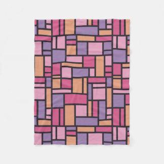 Geometric Pattern fleece blanket