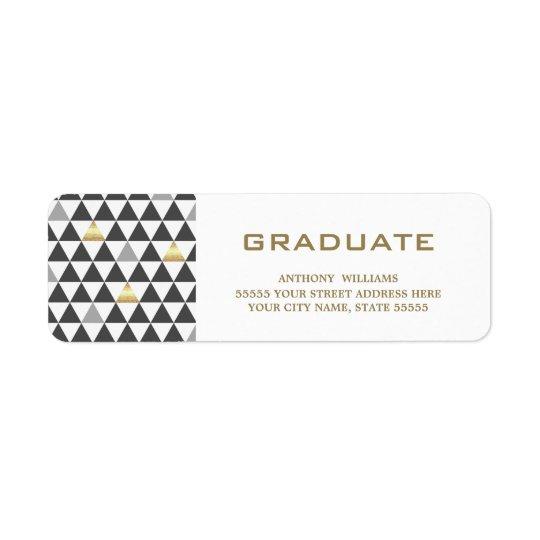 Geometric Pattern   Graduation Address Labels