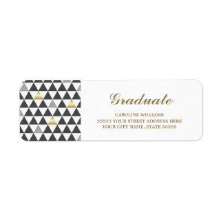 Geometric Pattern | Graduation Address Labels