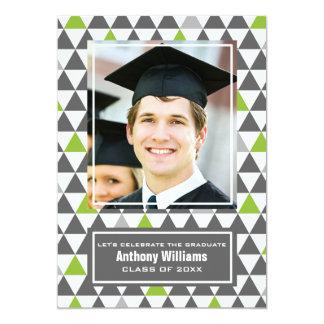 Geometric Pattern Graduation Photo Invitations