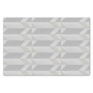 geometric pattern gray wood tissue paper
