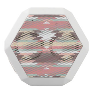 Geometric pattern in aztec style 2 white boombot rex bluetooth speaker