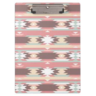 Geometric pattern in aztec style 2 clipboard