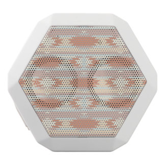 Geometric pattern in aztec style 3 white boombot rex bluetooth speaker
