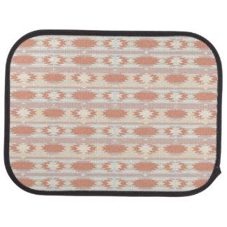 Geometric pattern in aztec style 3 car mat