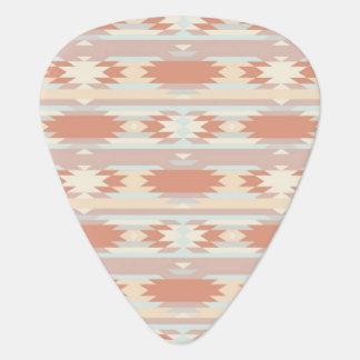 Geometric pattern in aztec style 3 guitar pick