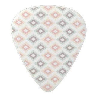 Geometric pattern in aztec style acetal guitar pick
