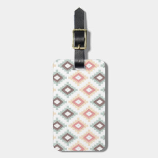 Geometric pattern in aztec style luggage tag