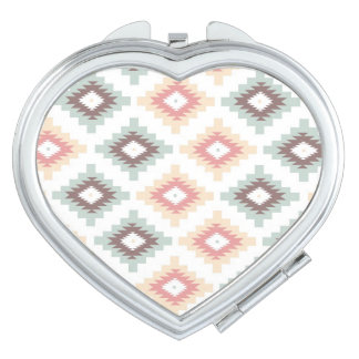 Geometric pattern in aztec style makeup mirrors