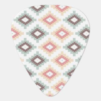 Geometric pattern in aztec style plectrum