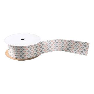 Geometric pattern in aztec style satin ribbon