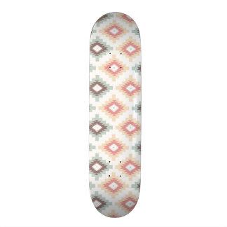 Geometric pattern in aztec style skate boards
