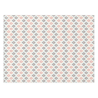 Geometric pattern in aztec style tablecloth