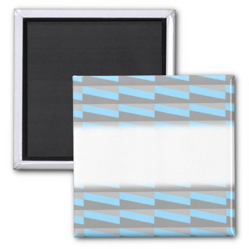 Geometric Pattern in Cool Blue and Gray. Magnets