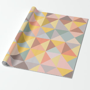 Geometric Wrapping Paper Zazzle Uk